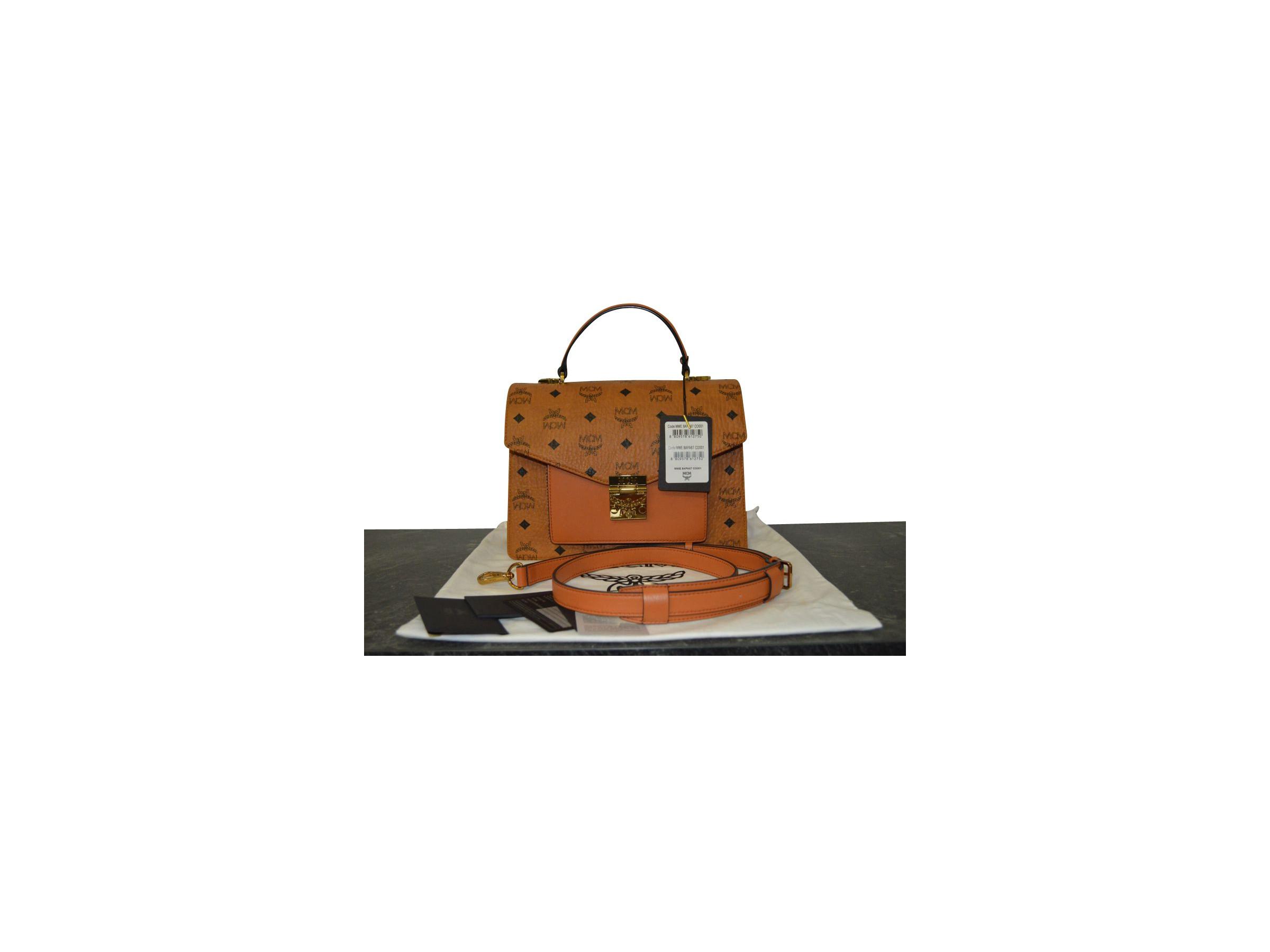 VERKAUFT MCM Tasche Handtasche Patricia Visetos Satchel Bag medium * wie NEU * NICHT getragen Bag medium * wie NEU * NICHT getragen