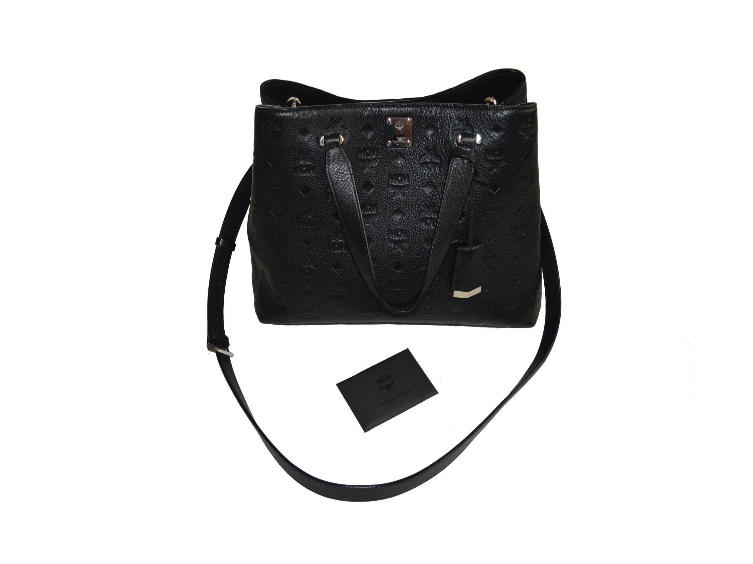 VERKAUFT MCM Tasche * NP 850 € * Essential Monogrammed Leather Tote * Handtasche * wie NEU